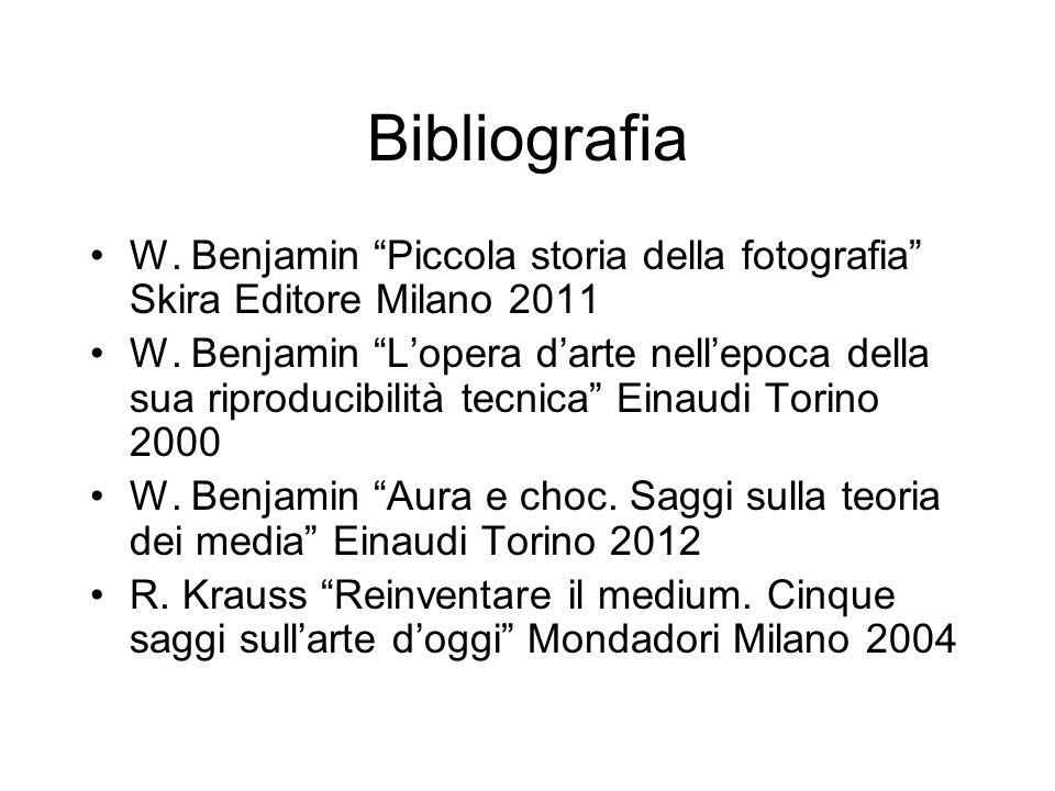 Bibliografia W. Benjamin Piccola storia della fotografia Skira Editore Milano 2011.