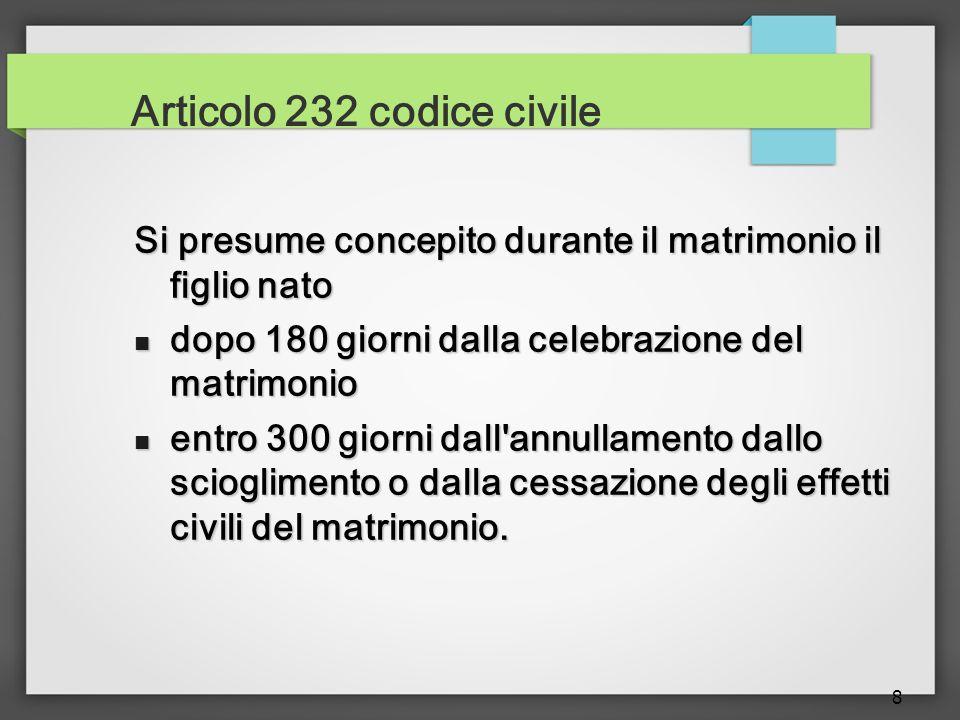 Articolo 232 codice civile