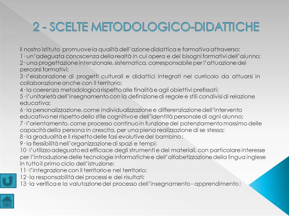 2 - SCELTE METODOLOGICO-DIDATTICHE