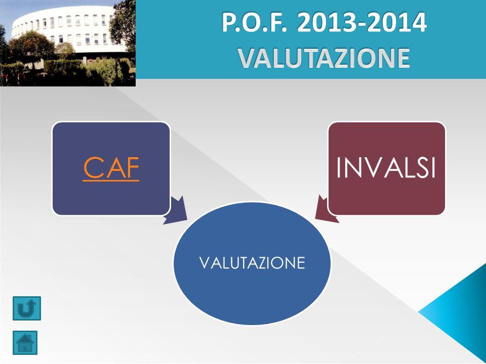 P.O.F. 2013-2014 VALUTAZIONE VALUTAZIONE CAF INVALSI