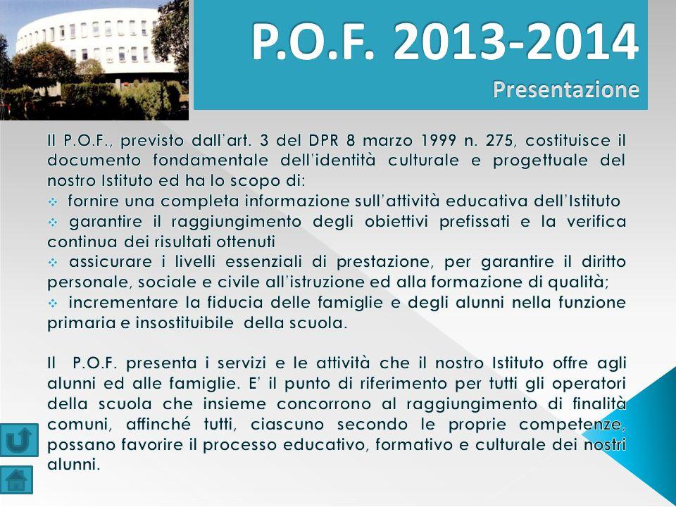 P.O.F. 2013-2014 Presentazione