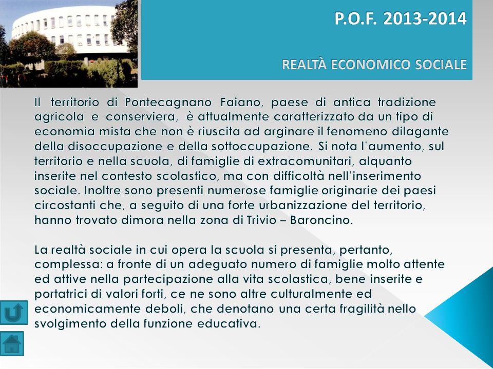 P.O.F. 2013-2014 REALTÀ ECONOMICO SOCIALE