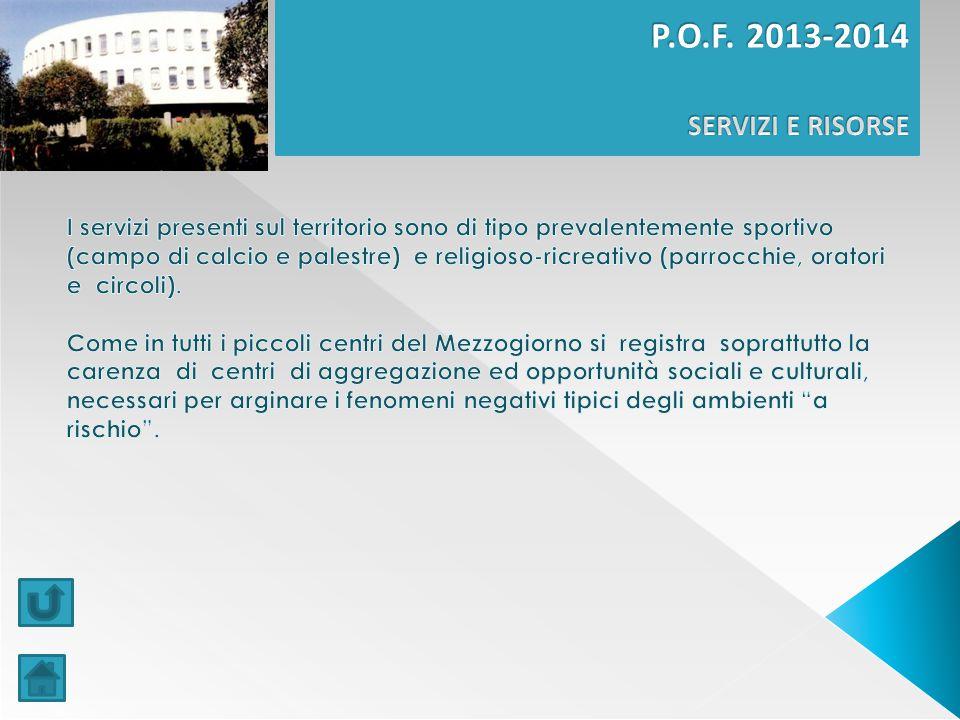 P.O.F. 2013-2014 SERVIZI E RISORSE