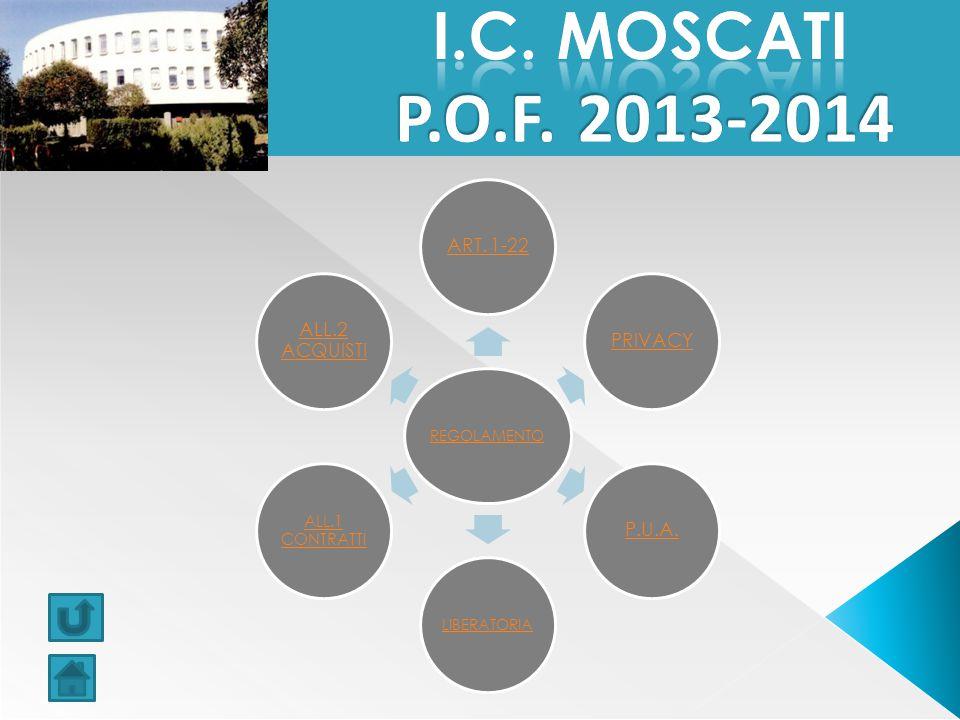 I.C. MOSCATI P.O.F. 2013-2014 ART. 1-22 PRIVACY P.U.A. ALL.2 ACQUISTI