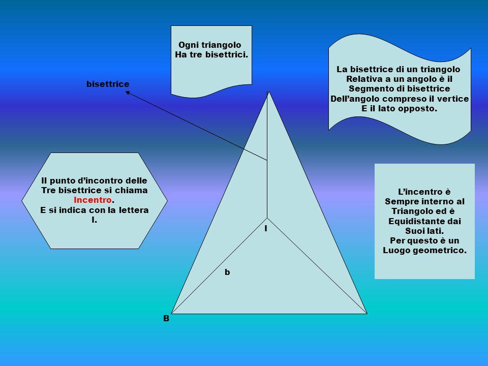 La bisettrice di un triangolo Relativa a un angolo è il