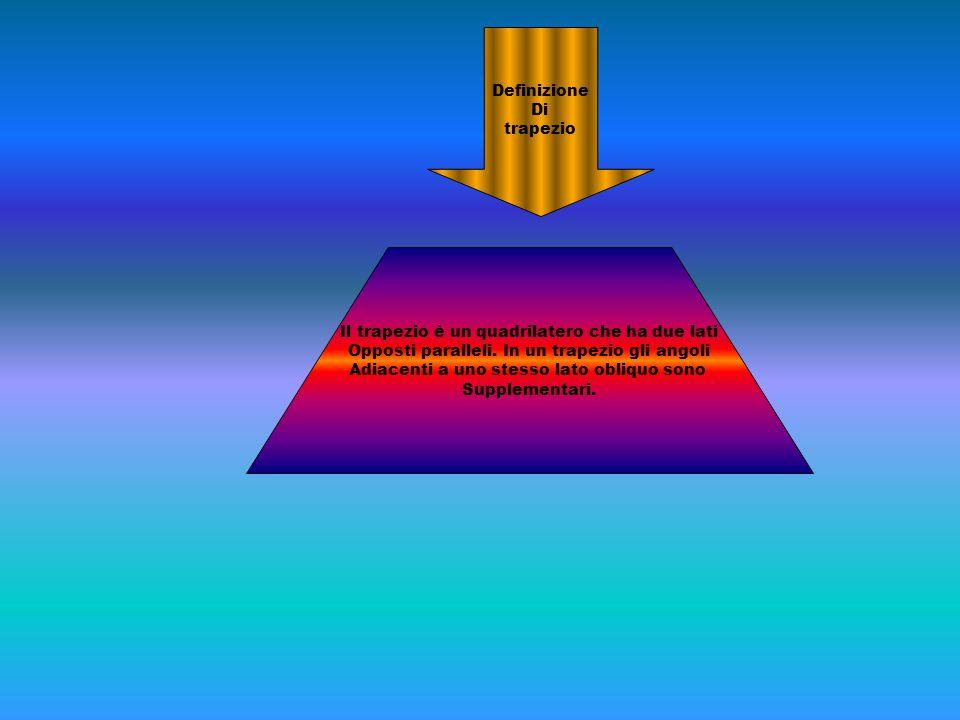 Il trapezio è un quadrilatero che ha due lati