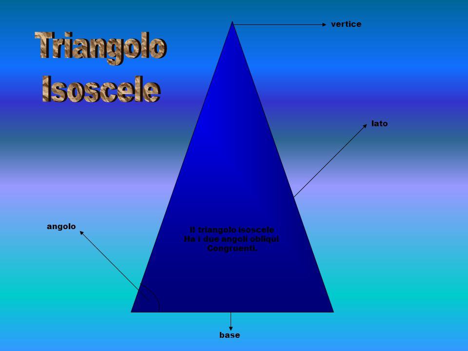 Triangolo Isoscele vertice lato Il triangolo isoscele