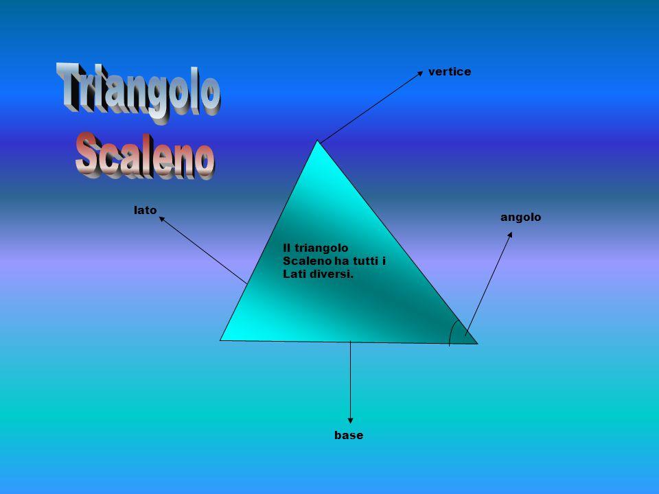Triangolo Scaleno vertice lato angolo Il triangolo Scaleno ha tutti i