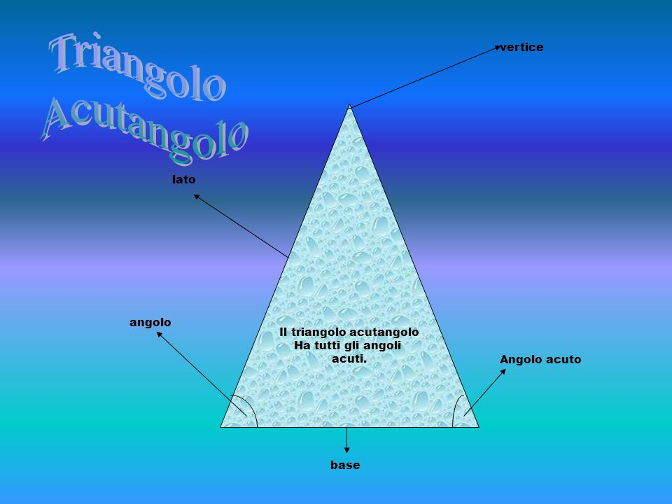Il triangolo acutangolo
