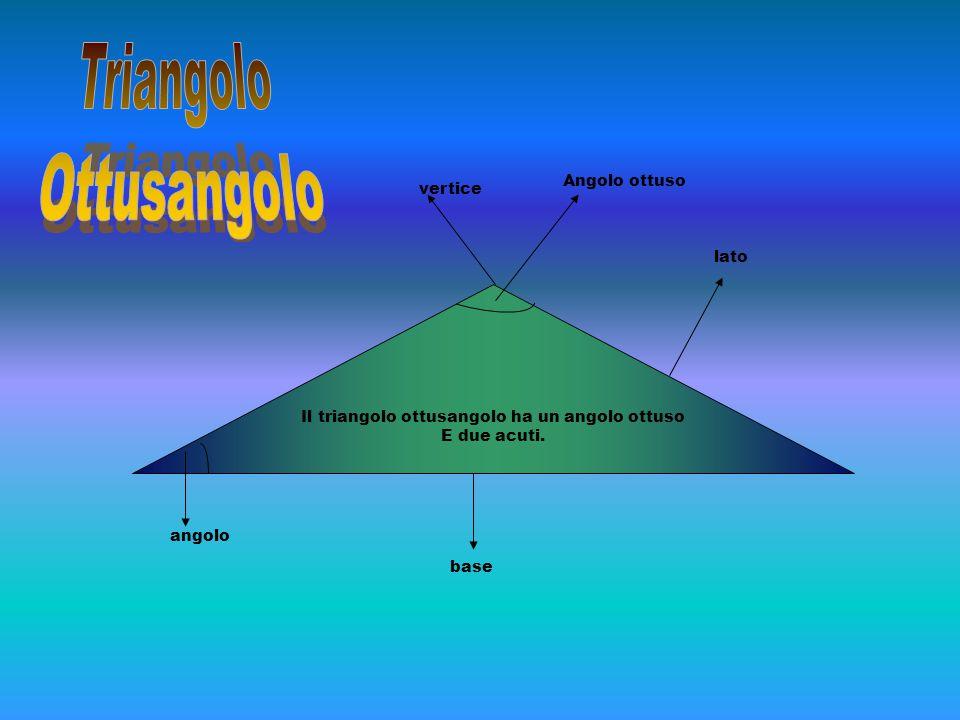 Il triangolo ottusangolo ha un angolo ottuso