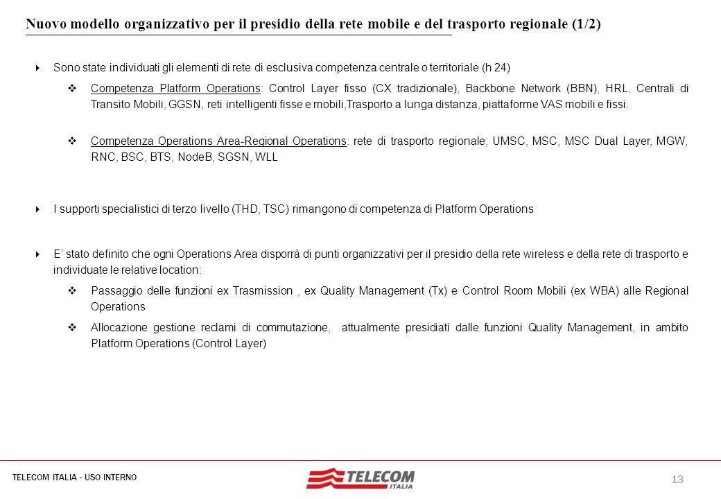 MIL-SIB080-30112006-35593/NG Nuovo modello organizzativo per il presidio della rete mobile e del trasporto regionale (2/2)