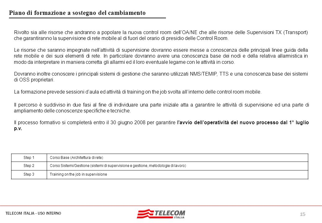 Technical Infrastructures: driver del riassetto