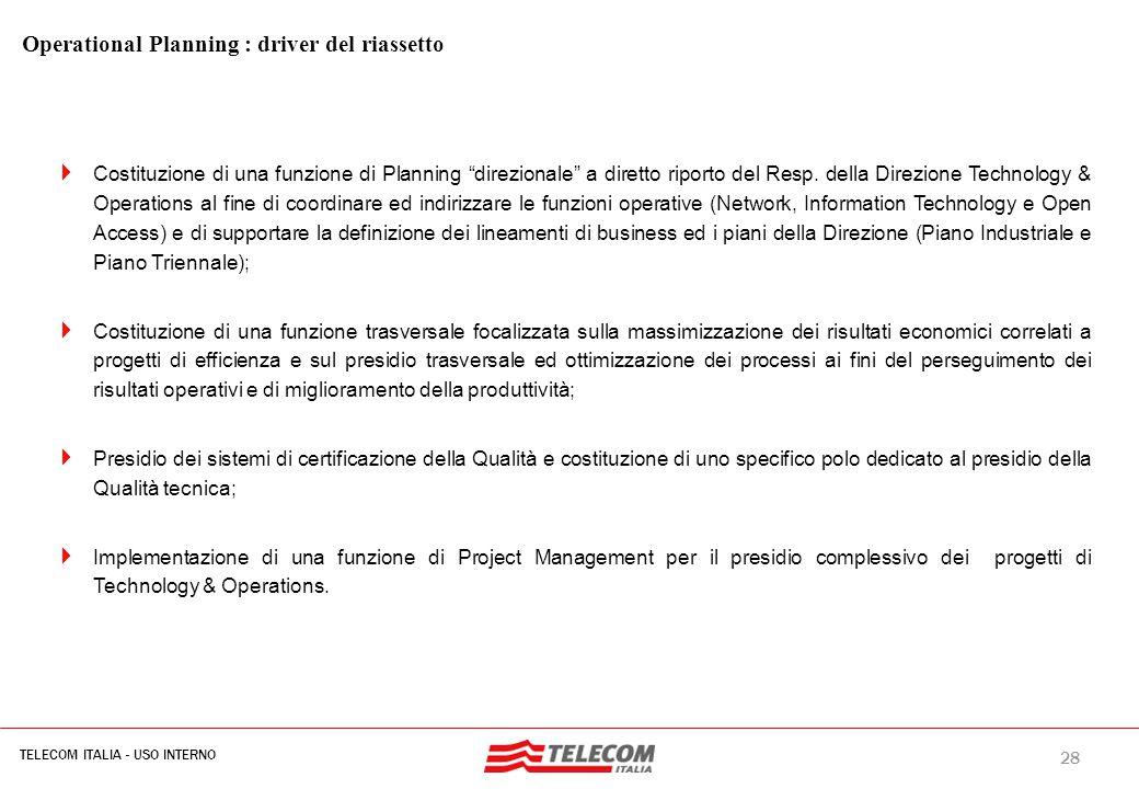 Operational Planning D.O. n. 190 del 13 febbraio 2008