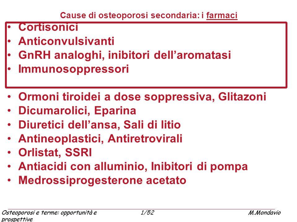 Cause di osteoporosi secondaria: i farmaci