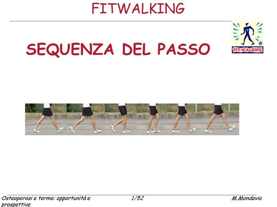 FITWALKING SEQUENZA DEL PASSO