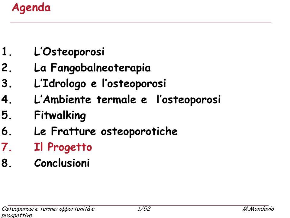 Agenda L'Osteoporosi La Fangobalneoterapia L'Idrologo e l'osteoporosi