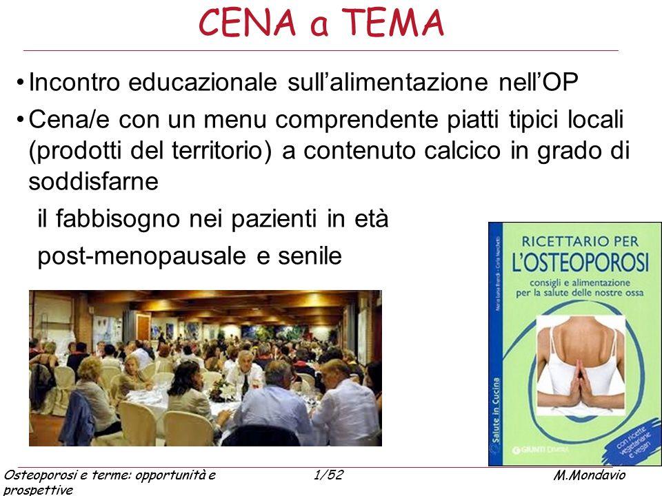 CENA a TEMA Incontro educazionale sull'alimentazione nell'OP