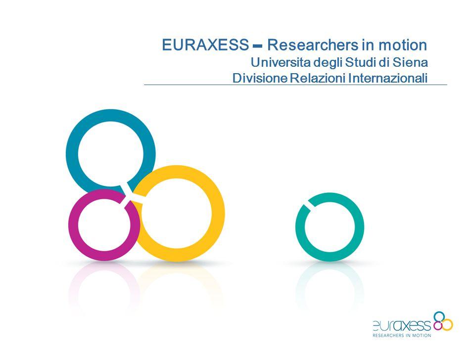 EURAXESS – Researchers in motion Universita degli Studi di Siena Divisione Relazioni Internazionali