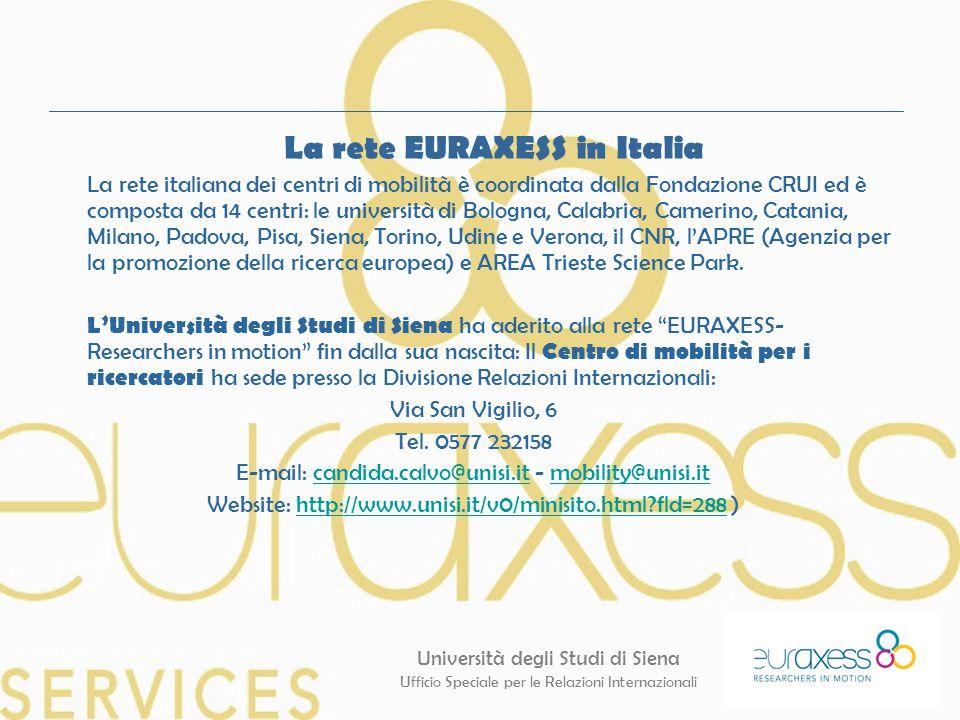 La rete EURAXESS in Italia