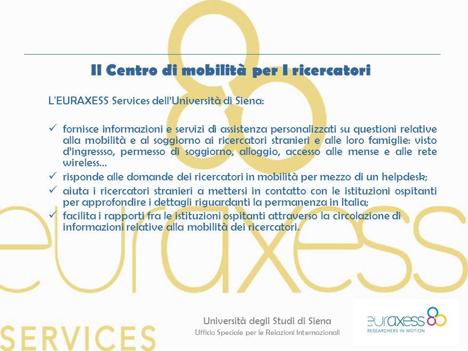 Il Centro di mobilità per I ricercatori