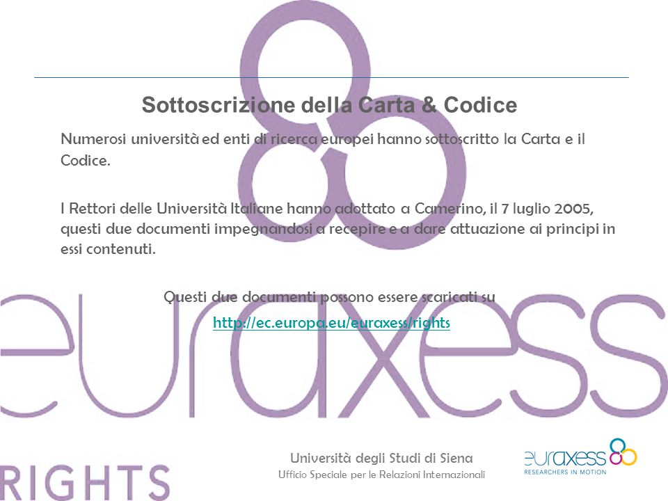 Sottoscrizione della Carta & Codice