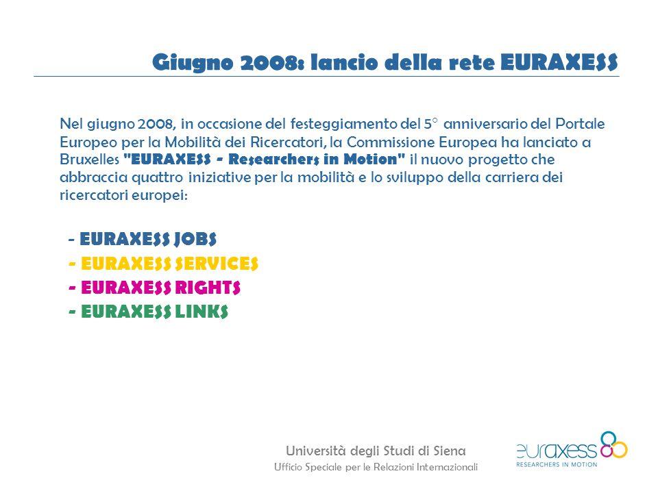 Giugno 2008: lancio della rete EURAXESS
