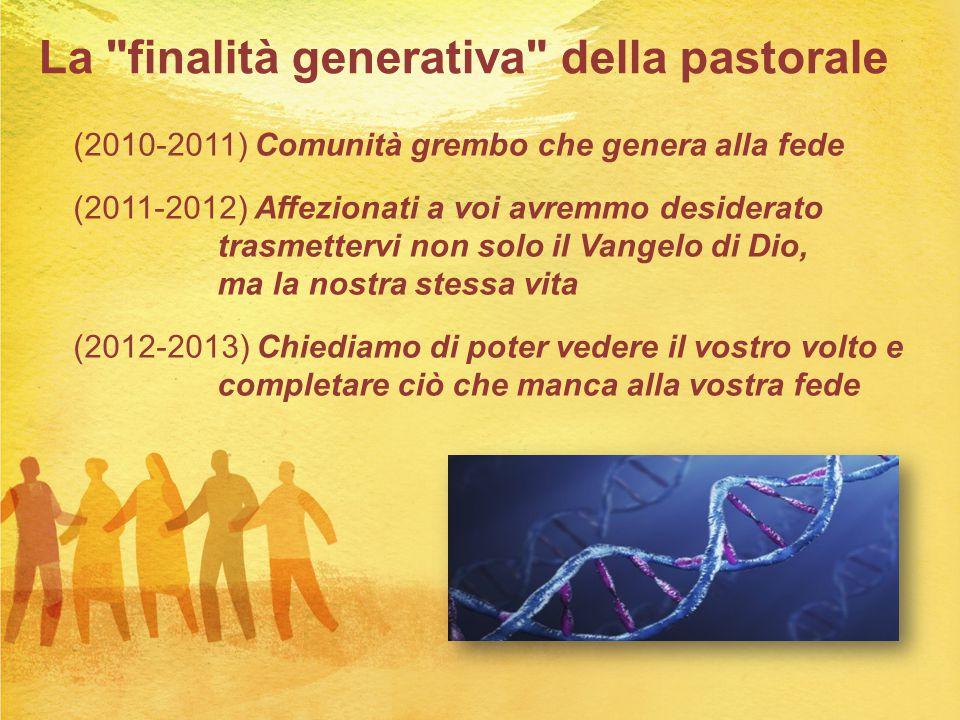 La finalità generativa della pastorale