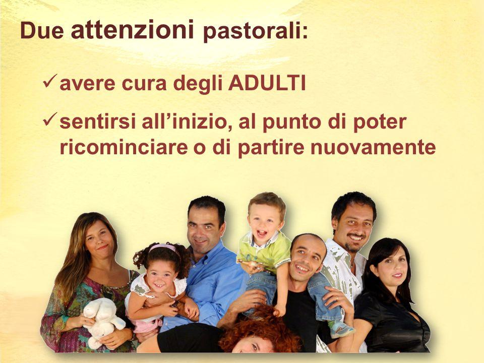 Due attenzioni pastorali: