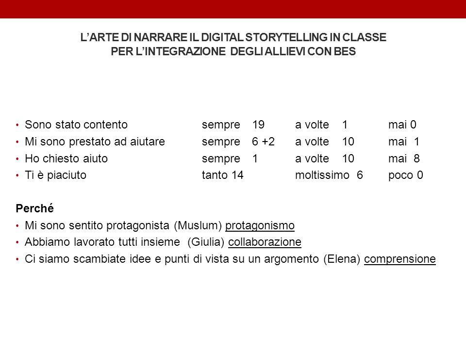 L'ARTE DI NARRARE IL DIGITAL STORYTELLING IN CLASSE PER L'INTEGRAZIONE DEGLI ALLIEVI CON BES