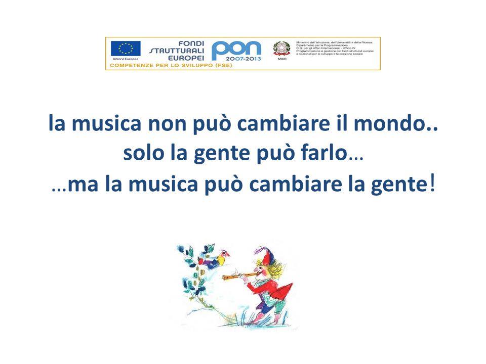 la musica non può cambiare il mondo