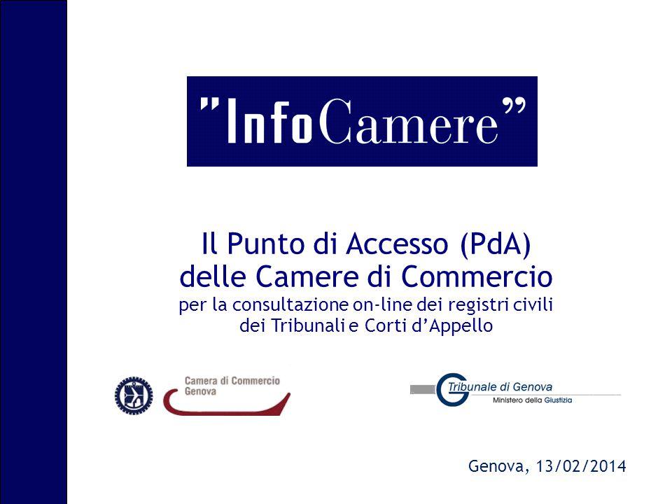 Il Punto di Accesso (PdA) delle Camere di Commercio per la consultazione on-line dei registri civili dei Tribunali e Corti d'Appello