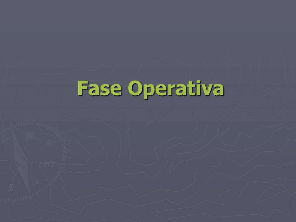 Fase Operativa