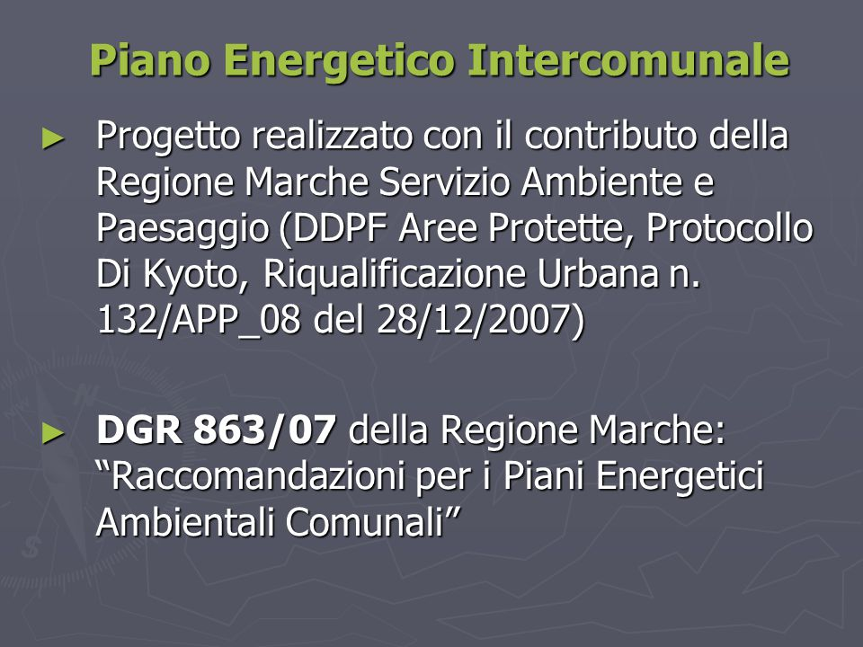 Piano Energetico Intercomunale