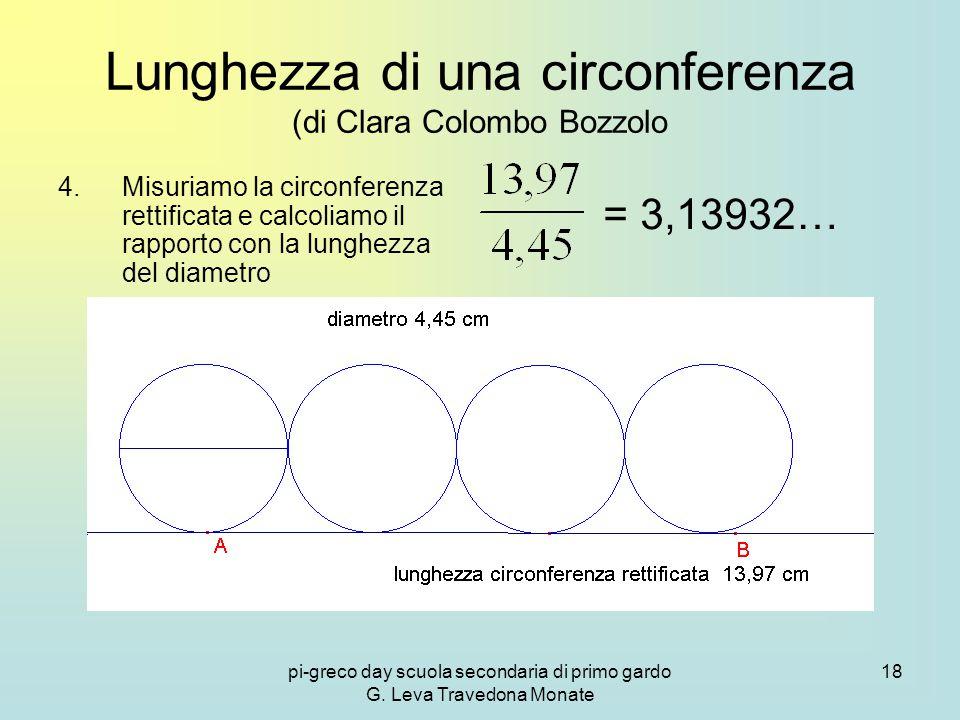 Lunghezza di una circonferenza (di Clara Colombo Bozzolo