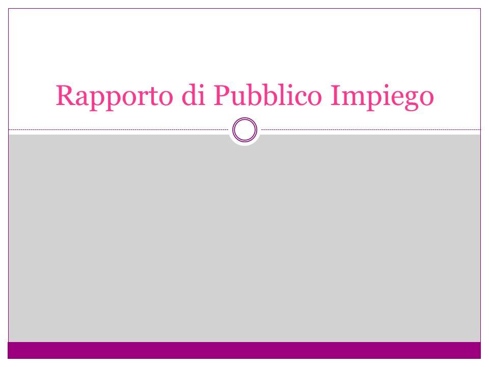 Rapporto di Pubblico Impiego