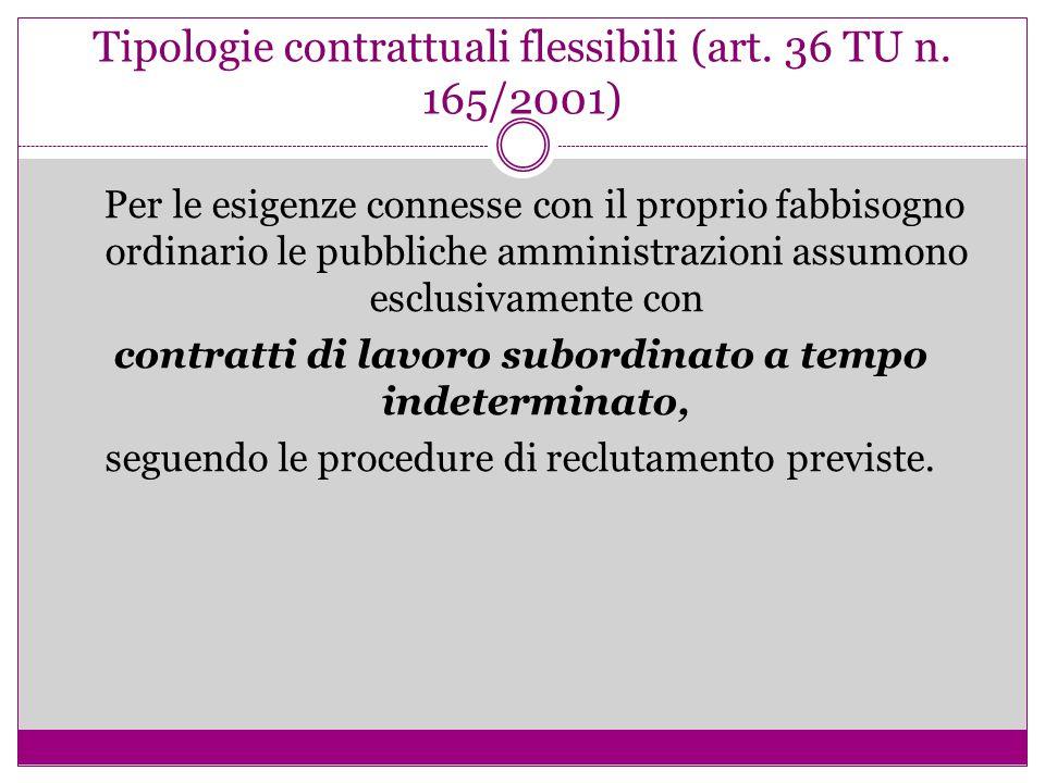 Tipologie contrattuali flessibili (art. 36 TU n. 165/2001)