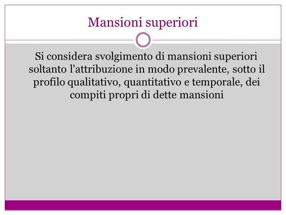 Mansioni superiori