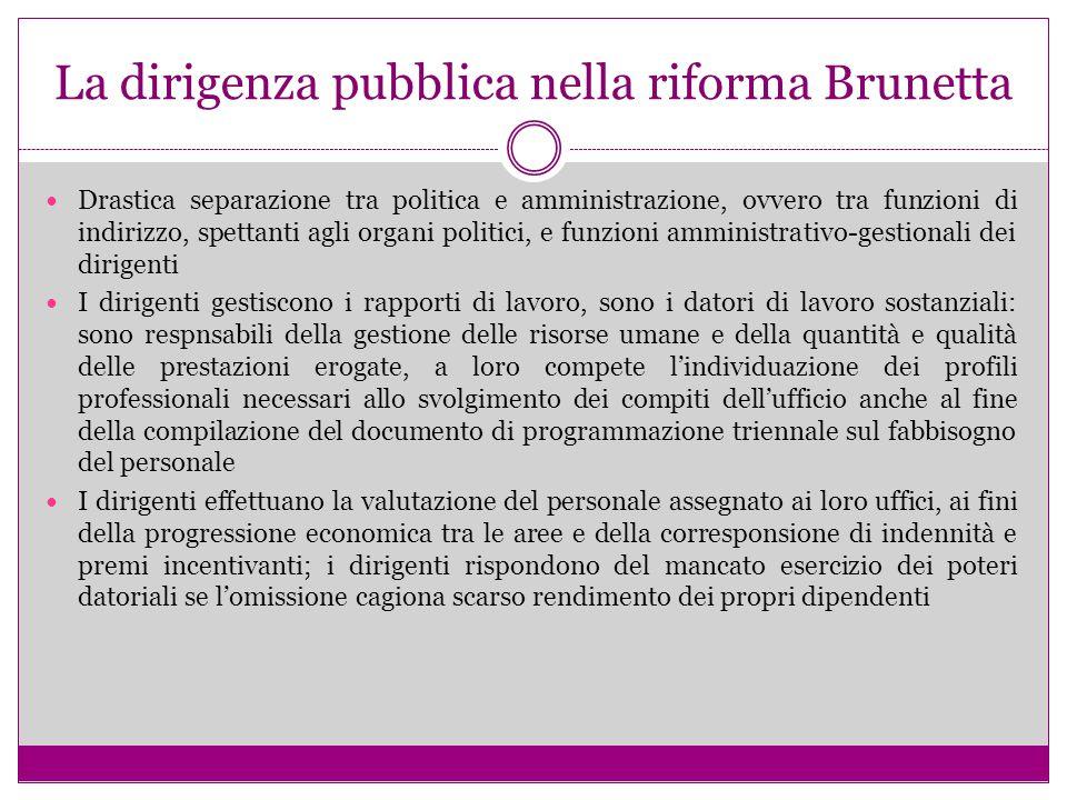 La dirigenza pubblica nella riforma Brunetta