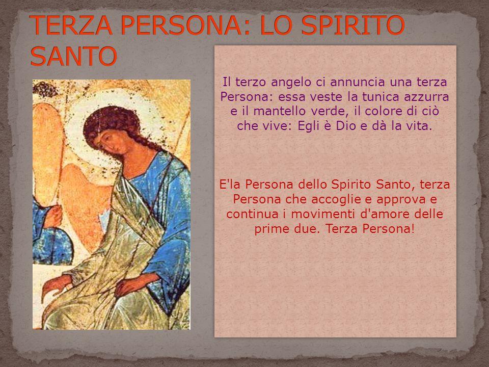TERZA PERSONA: LO SPIRITO SANTO