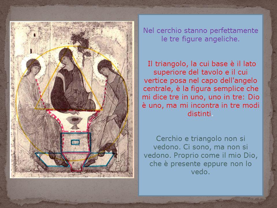 Nel cerchio stanno perfettamente le tre figure angeliche.