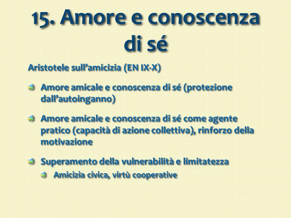15. Amore e conoscenza di sé