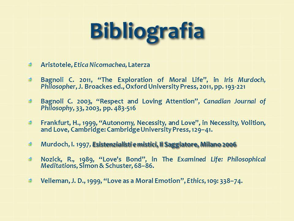 Bibliografia Aristotele, Etica Nicomachea, Laterza