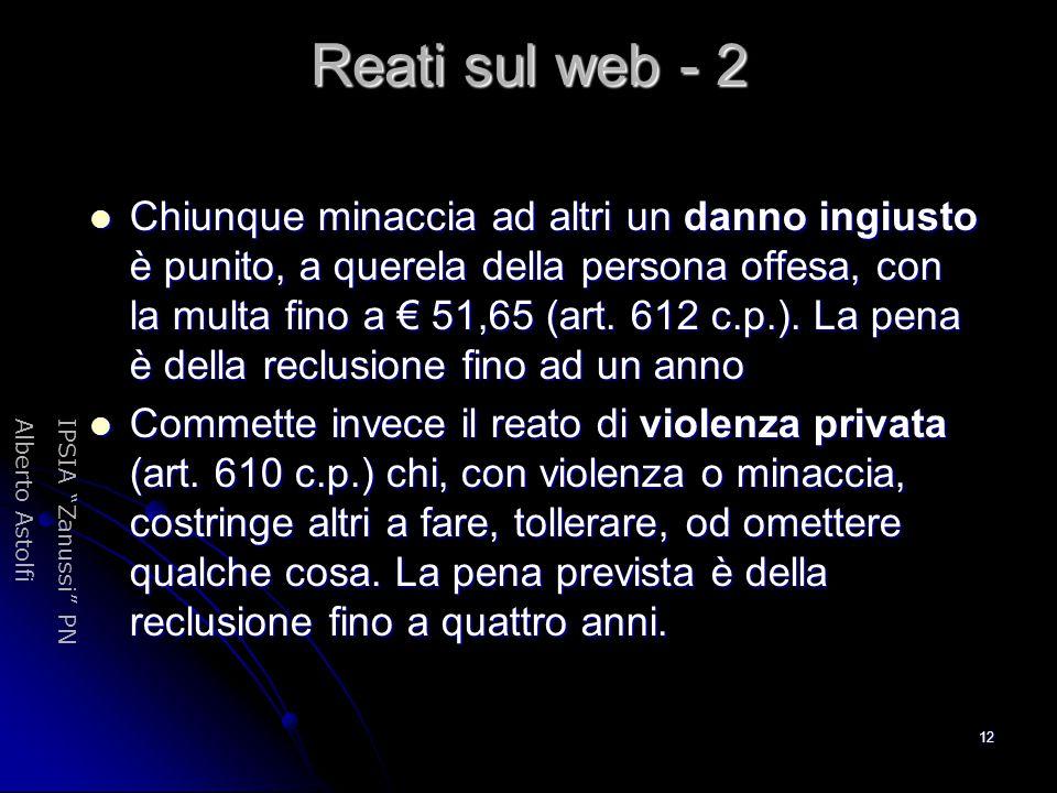 Reati sul web - 2