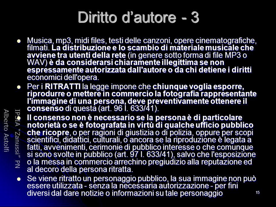 Diritto d'autore - 3