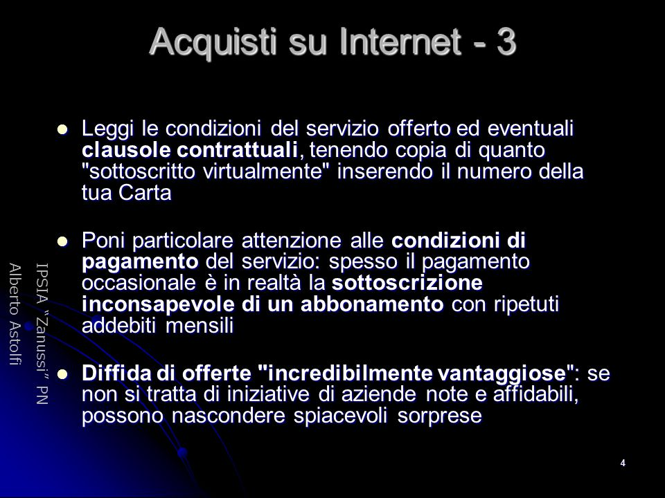 Acquisti su Internet - 3