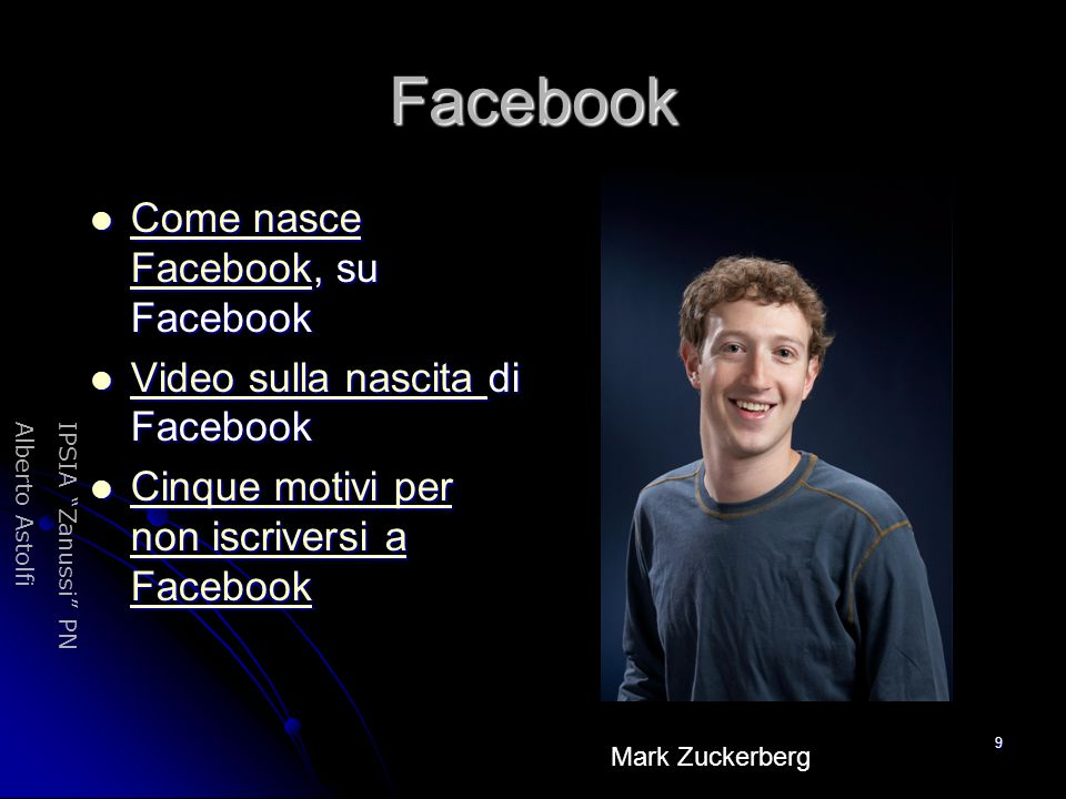 Facebook Come nasce Facebook, su Facebook