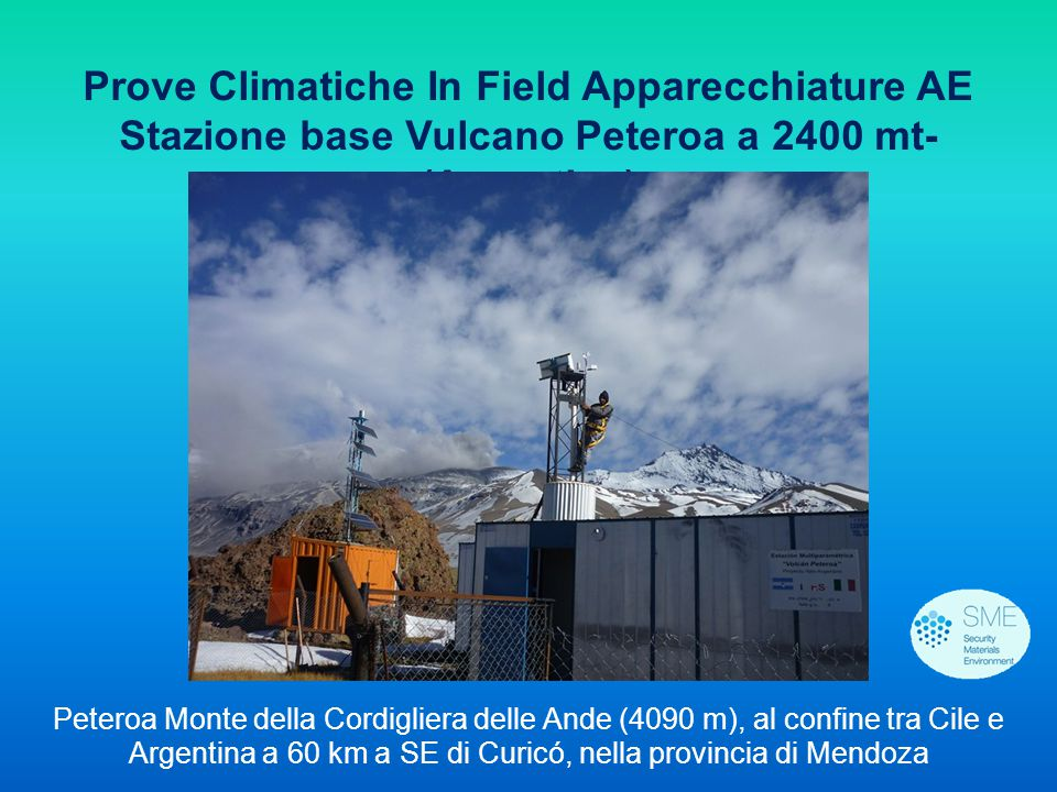 Prove Climatiche In Field Apparecchiature AE