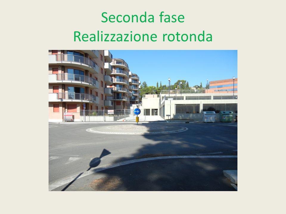 Seconda fase Realizzazione rotonda
