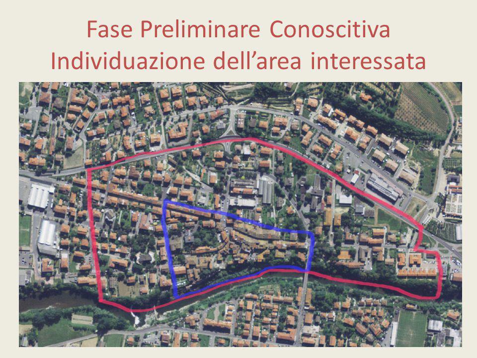 Fase Preliminare Conoscitiva Individuazione dell'area interessata