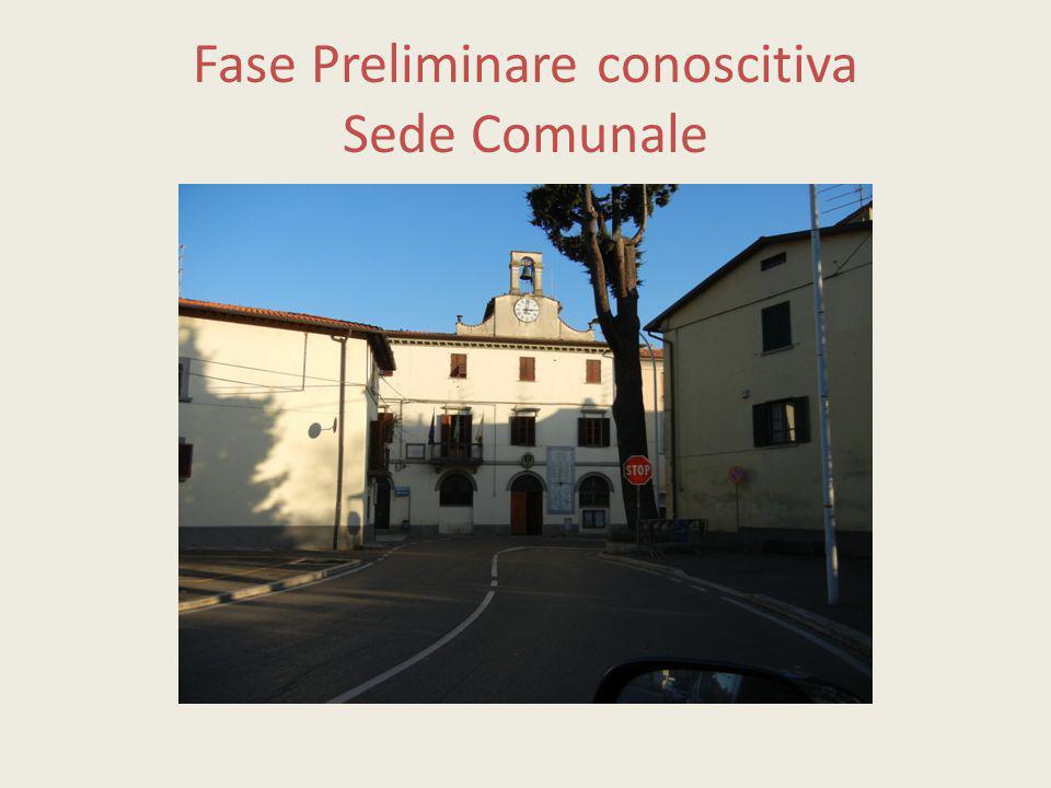 Fase Preliminare conoscitiva Sede Comunale